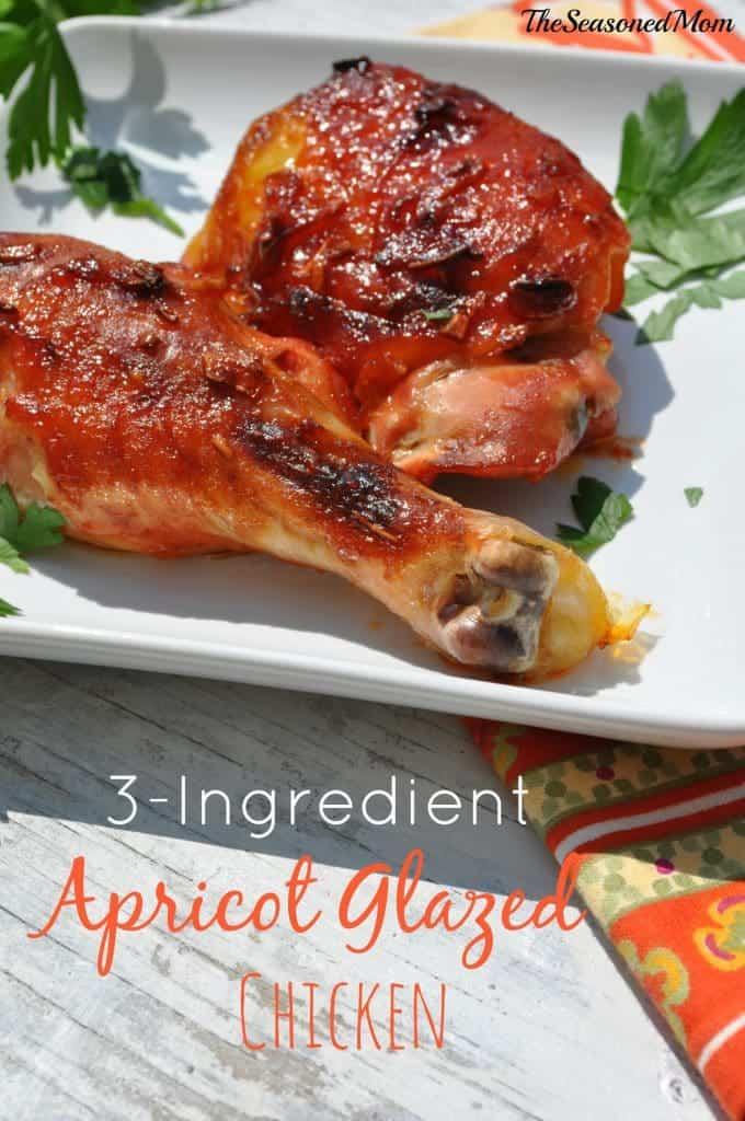 3 Ingredient Apricot Glazed Chicken