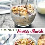 Long collage of Swiss Muesli Recipe