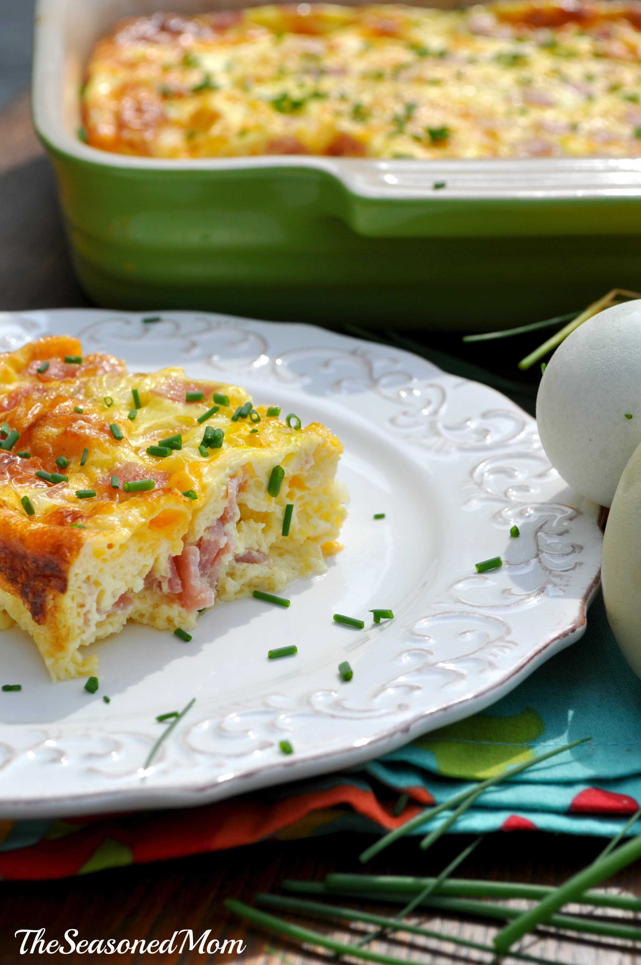 Baked Ham and Cheese Omelet - The Seasoned Mom