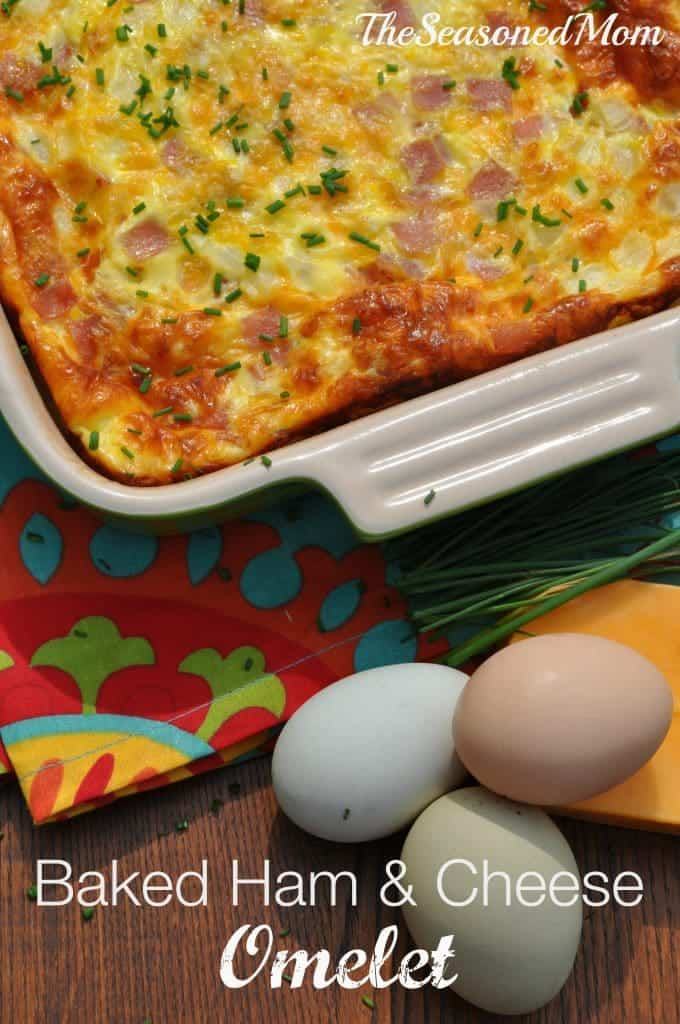 Baked Ham and Cheese Omelet