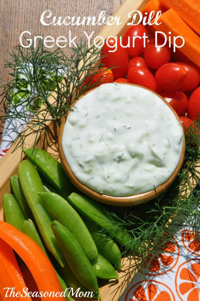 Cucumber Dill Greek Yogurt Dip | Easy Dipping Sauce For Vegetables