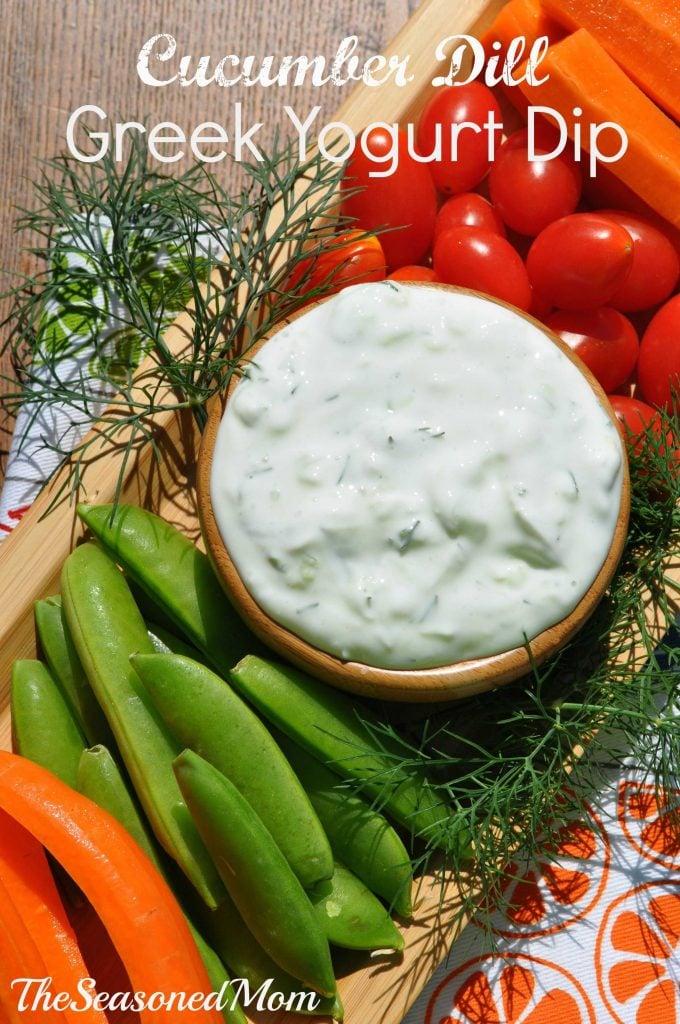 Cucumber Dill Greek Yogurt Dip