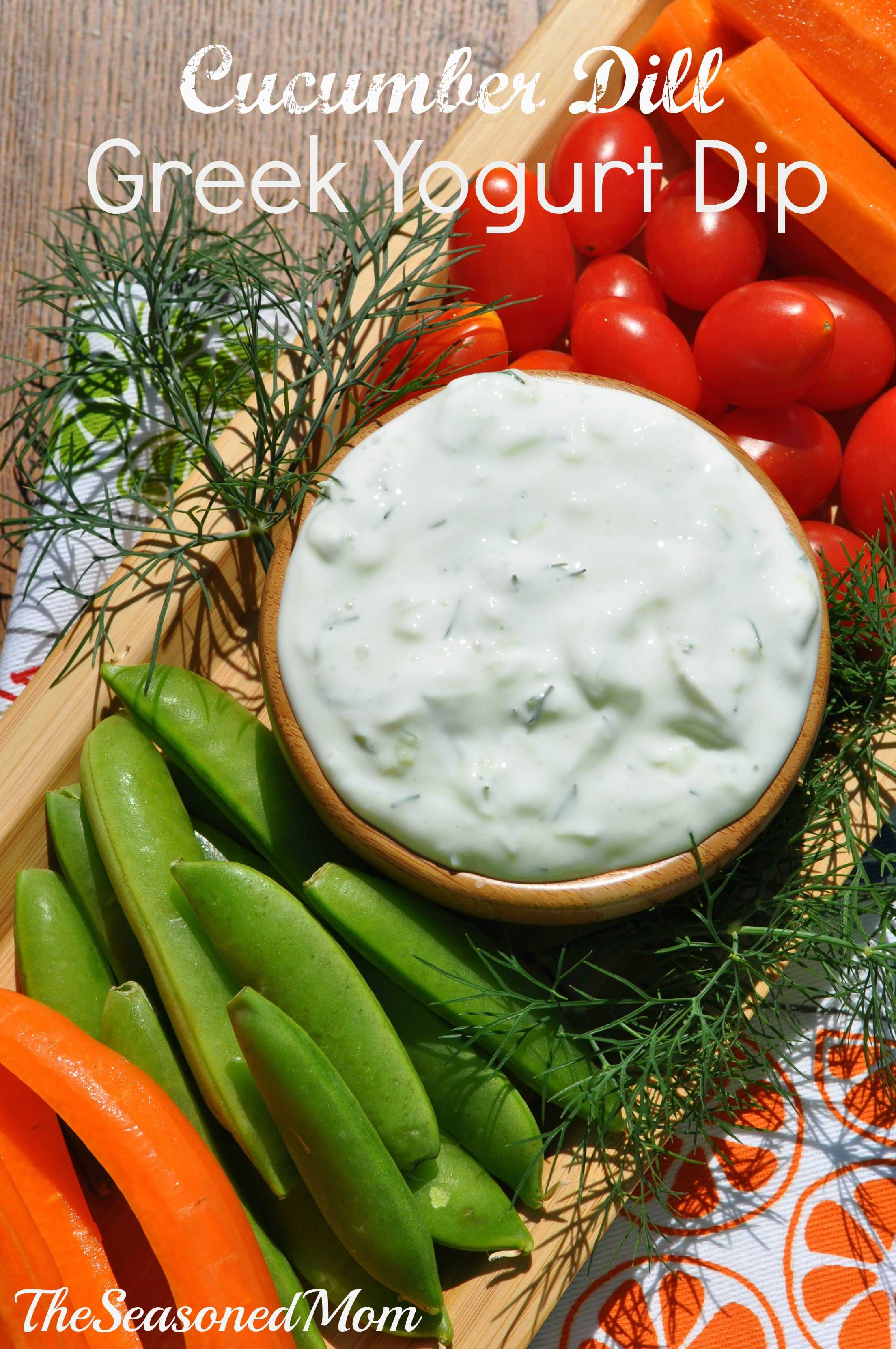 My Cucumber Dill Greek Yogurt Dip is light, healthy, and the perfect ...