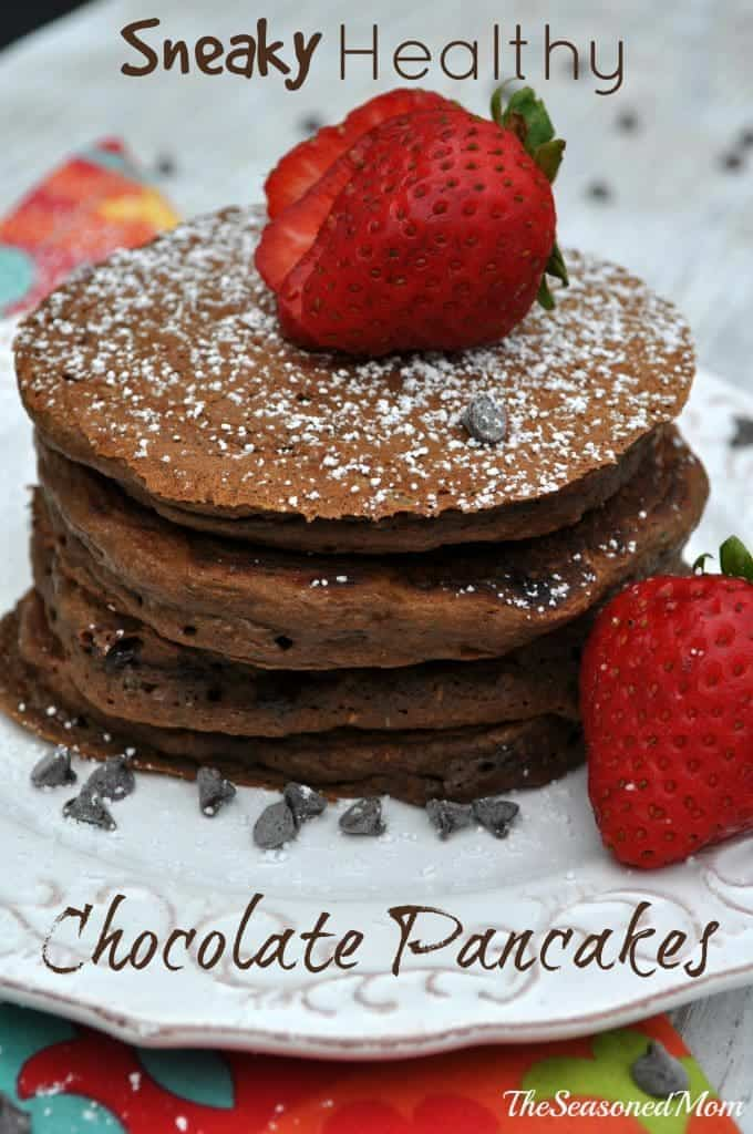 Sneaky Healthy Chocolate Pancakes 2