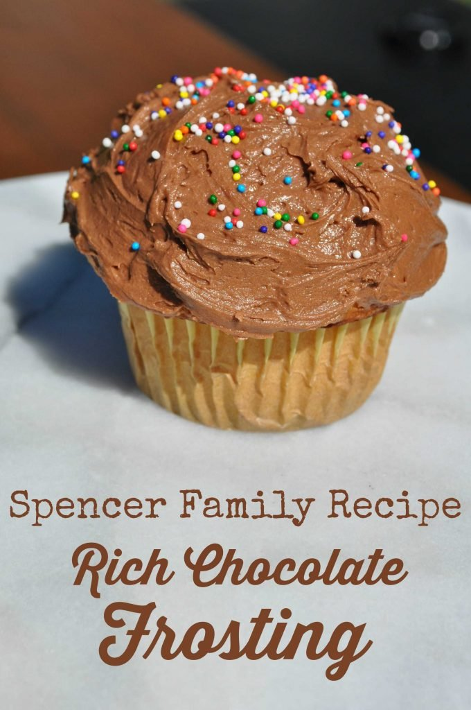 Spencer Family Recipe Rich Chocolate Frosting