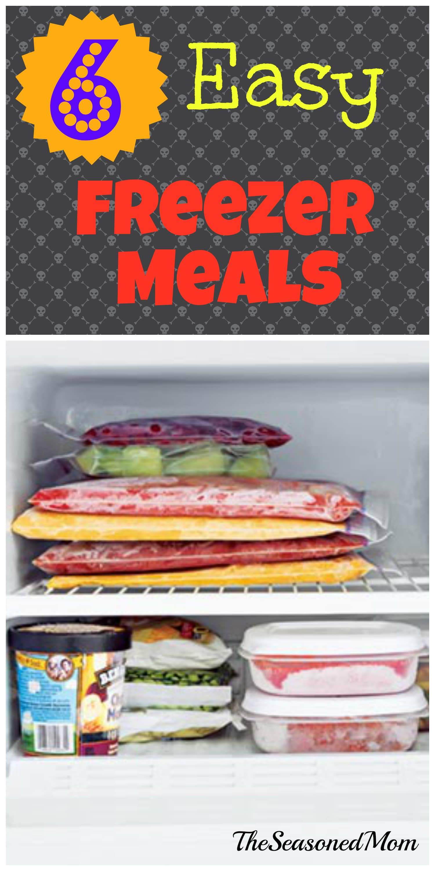6 Easy Freezer Meals