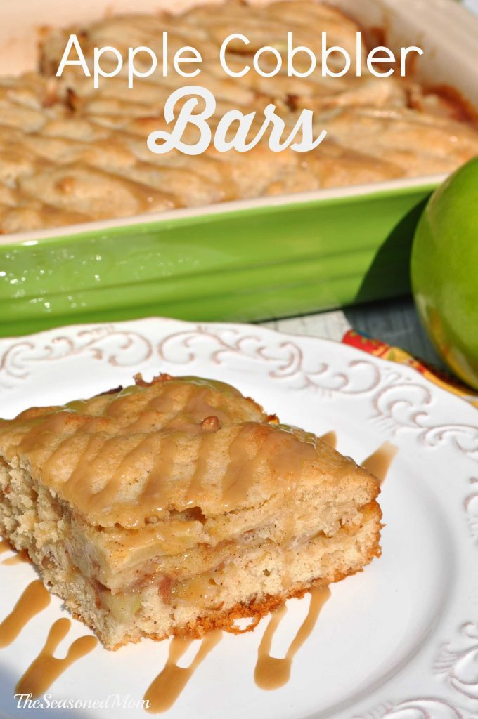 Apple Cobbler Bars by The Seasoned Mom