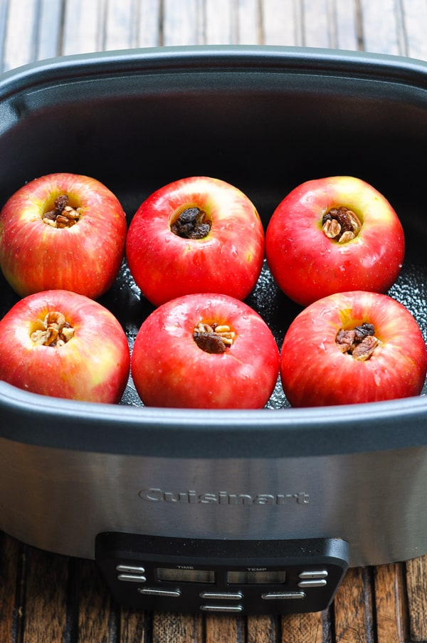 Stuffed apples in the slow cooker