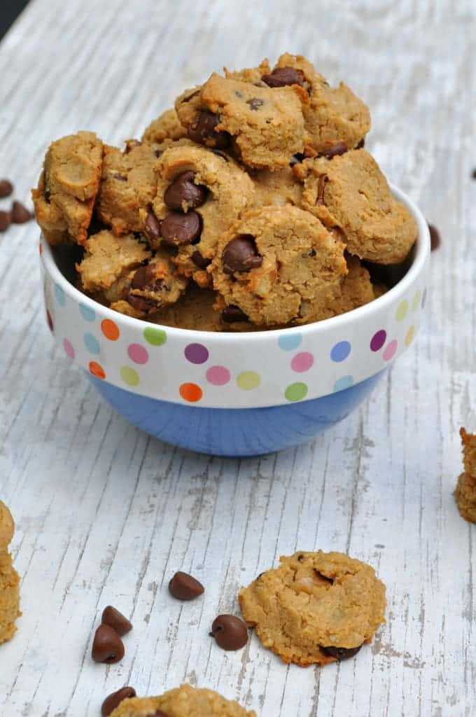 2 Bite Flourless Chocolate Chip Cookies 2