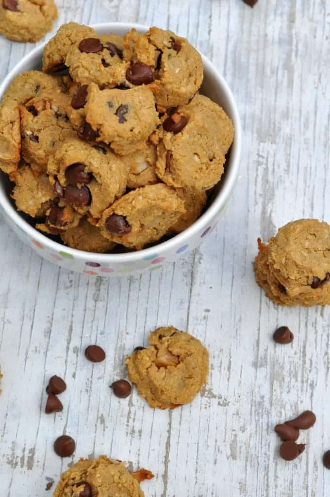 2 Bite Flourless Chocolate Chip Cookies 3