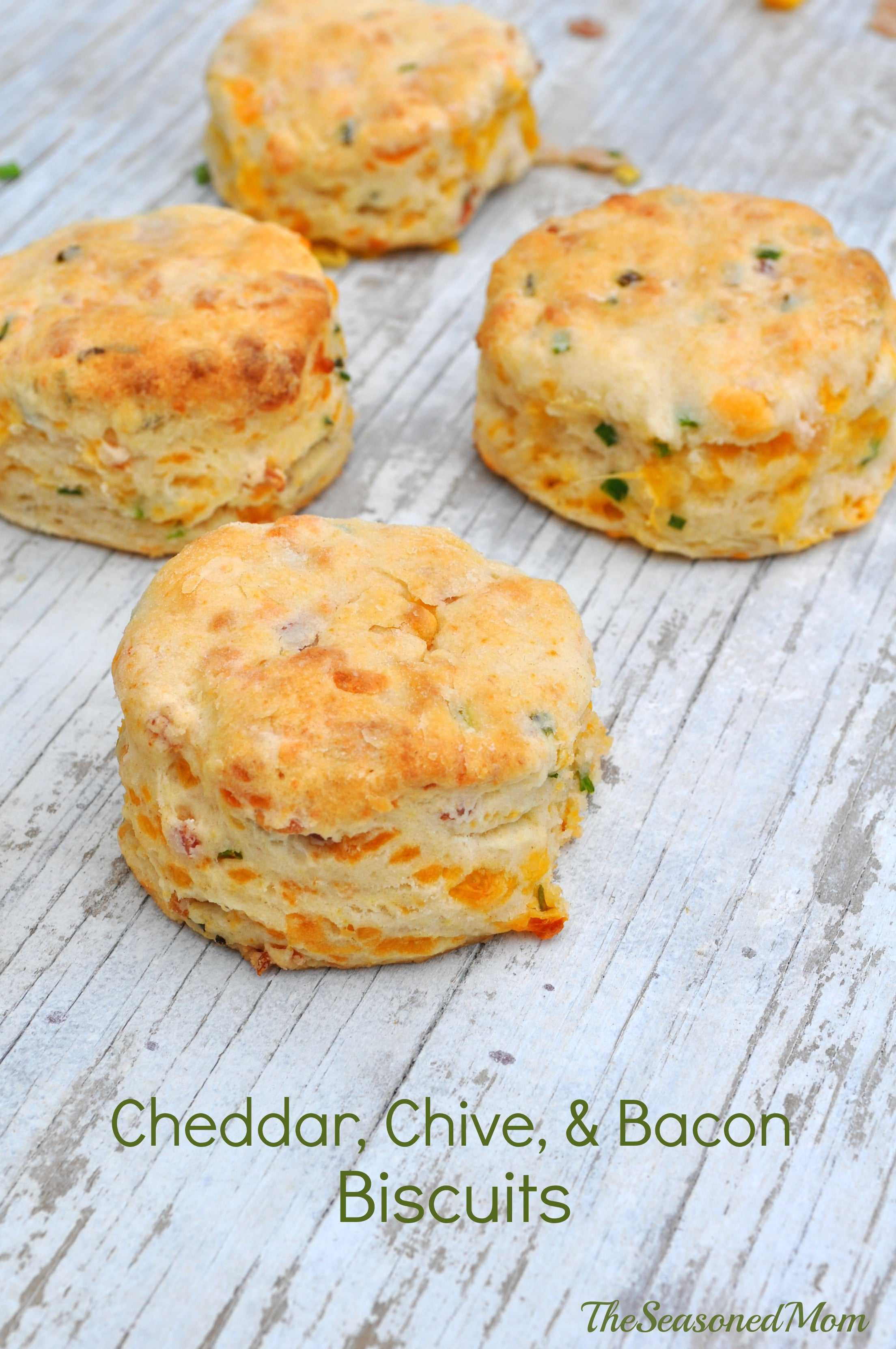 Cheddar Chive and Bacon Biscuits - The Seasoned Mom