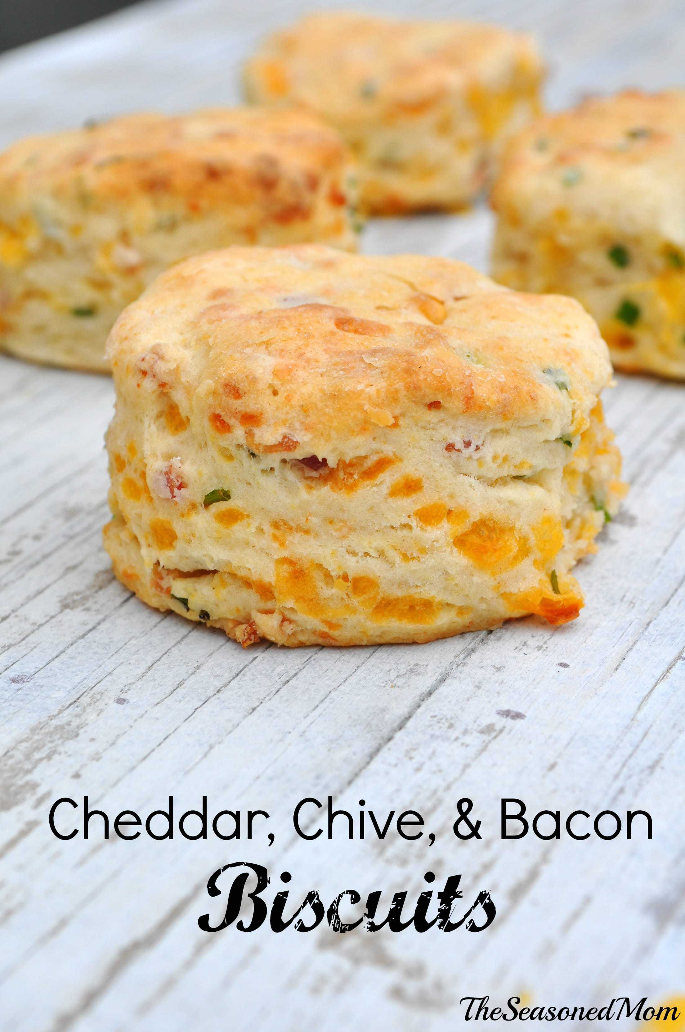 Cheddar Chive and Bacon Biscuits are the perfect, simple recipe to ...