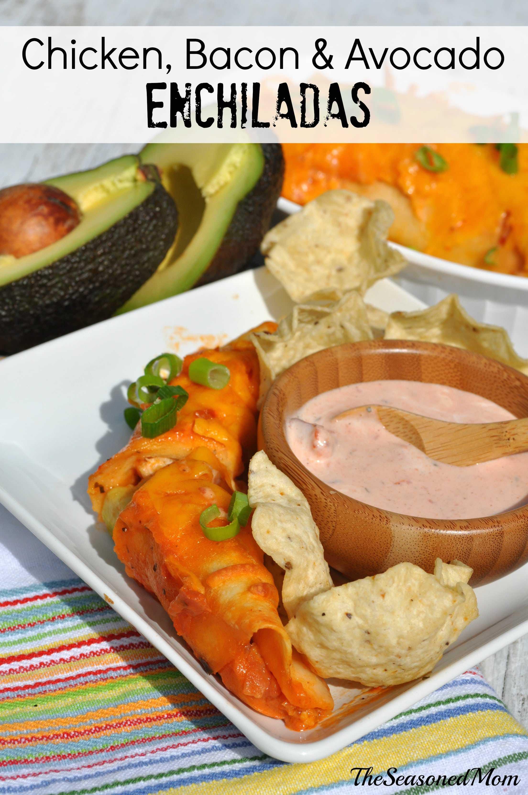 Chicken Bacon & Avocado Enchiladas + a Video and $50 Visa Gift Card # ...