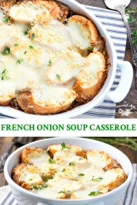 Long collage of easy French Onion Soup Casserole recipe