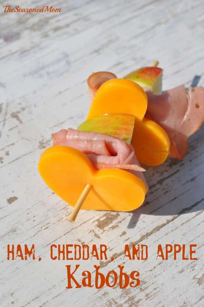 Ham Cheddar and Apple Kabobs