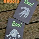 Halloween Craft for Kids: Handprint Ghosts