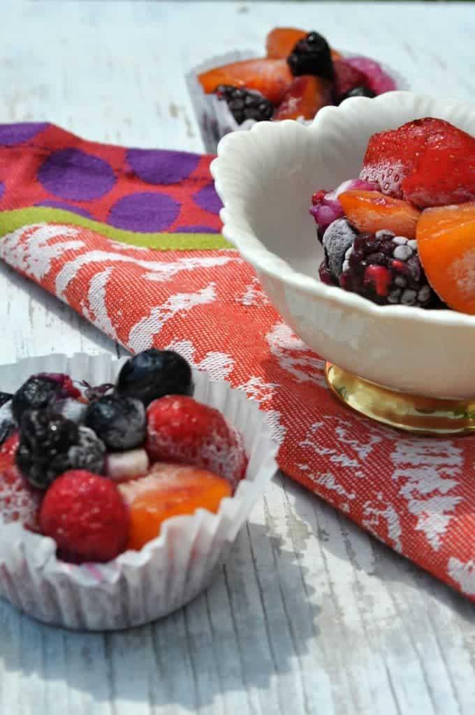 Individual Frozen Fruit Salads 4