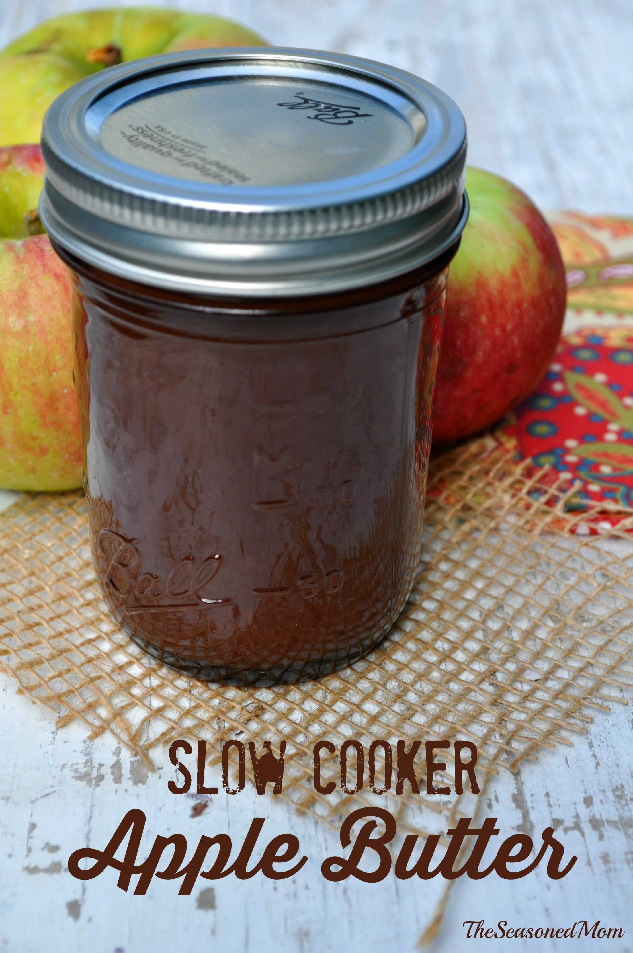Slow Cooker Apple Butter @TheSeasonedMom: the perfect easy fall treat!