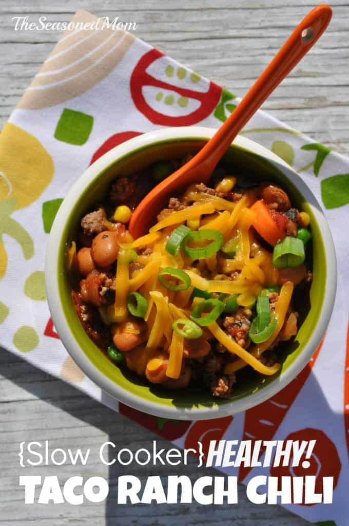 Slow Cooker Healthy Taco Ranch Chili 4