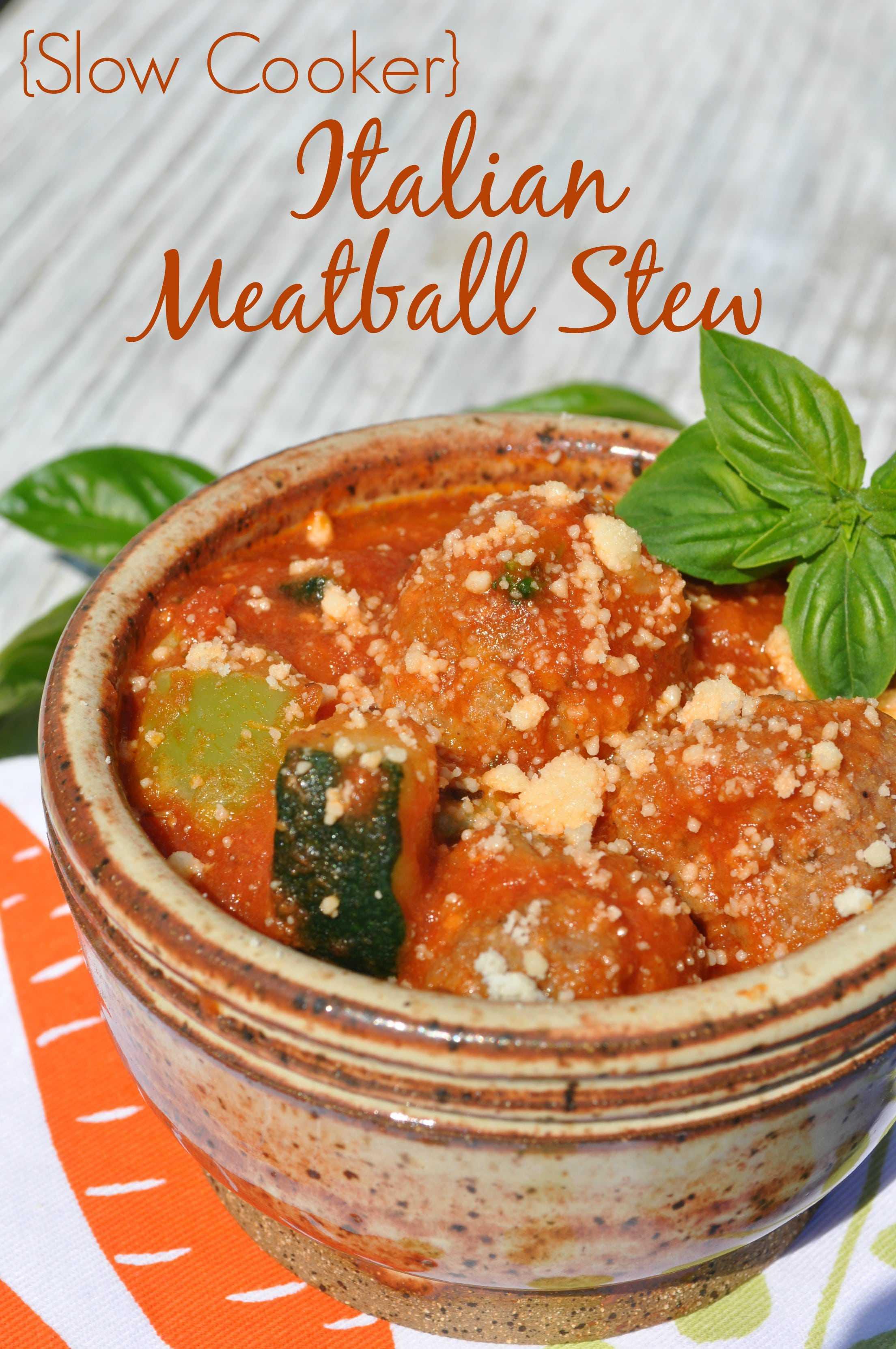 Slow Cooker Italian Meatball Stew #recipe #crockpot #slowcookerrecipes ...