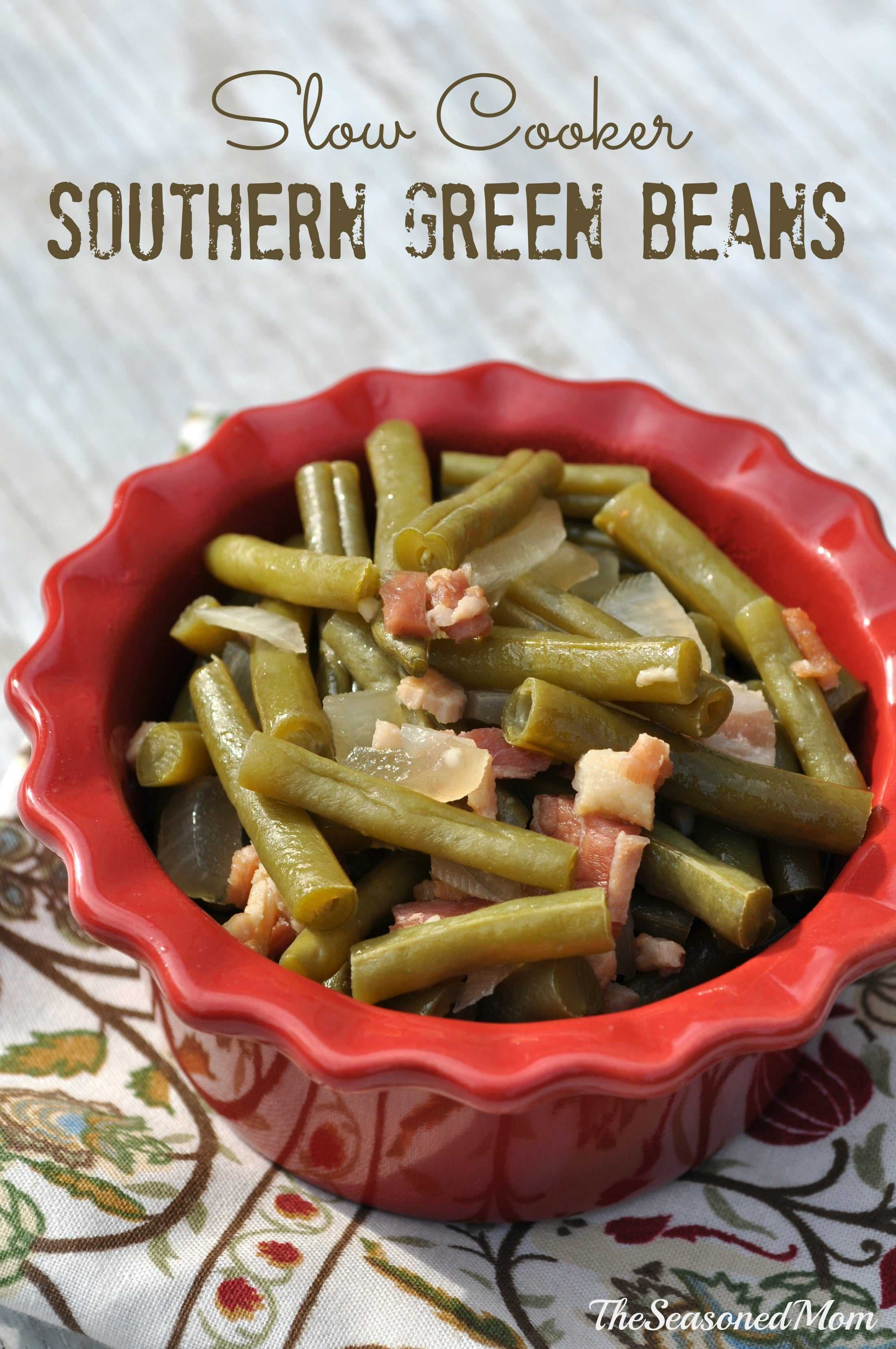 Slow Cooker Southern Green Beans The Seasoned Mom