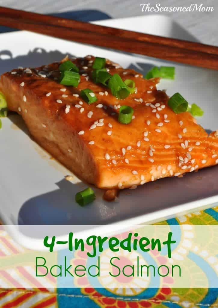 4 ingredient baked salmon the seasoned mom. Black Bedroom Furniture Sets. Home Design Ideas