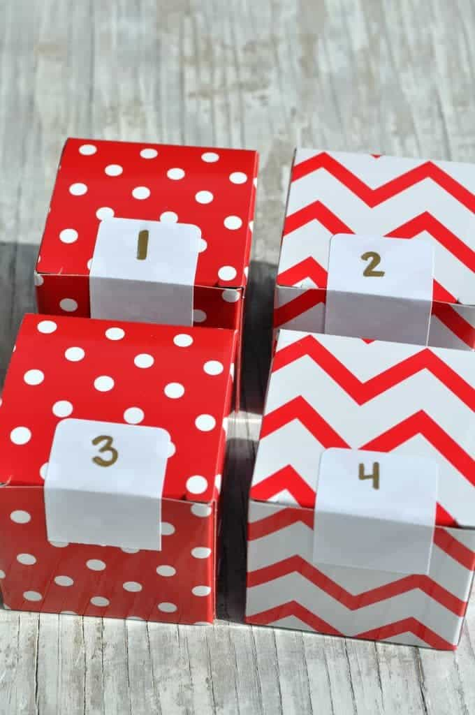 Advent Calendar Closed Boxes