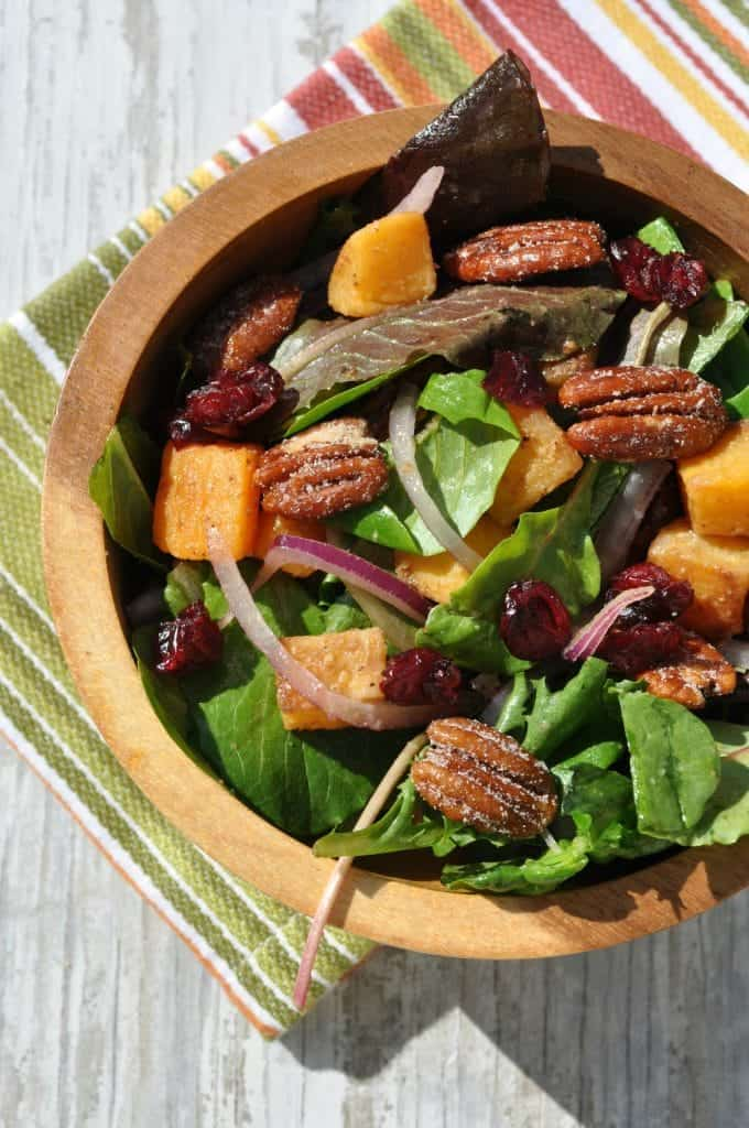 Butternut Squash Salad with Candied Nuts 2