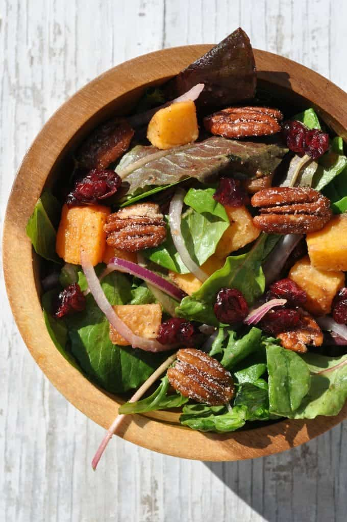 Butternut Squash Salad with Candied Nuts 3