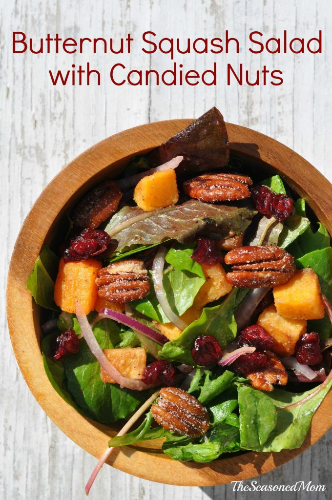 Butternut Squash Salad with Candied Nuts