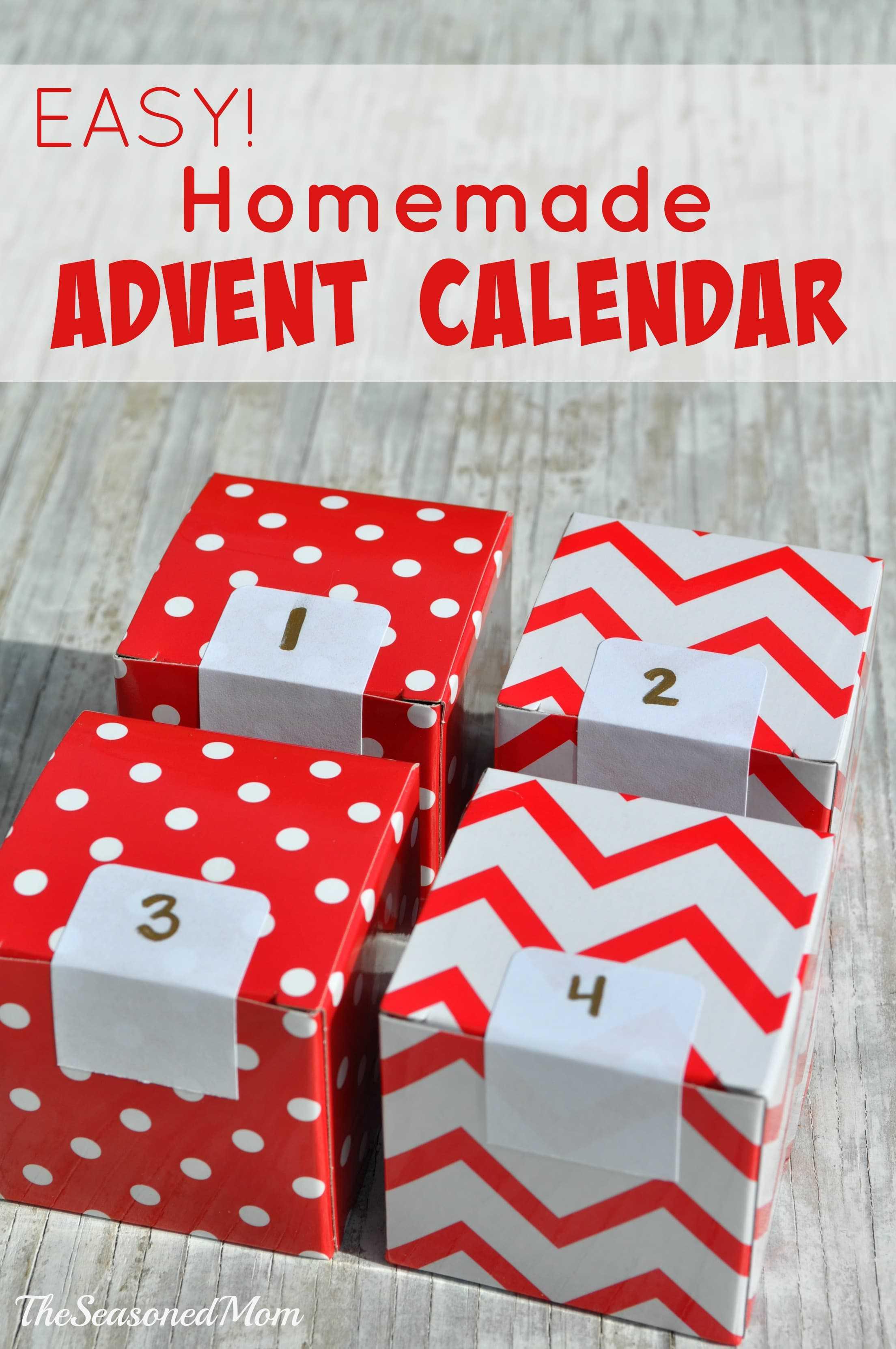 Homemade Calendars With Photos : Easy homemade advent calendar the seasoned mom