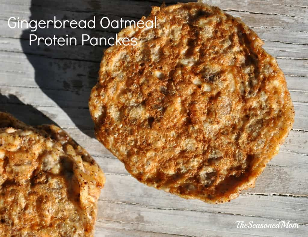 Gingerbread Oatmeal Protein Pancakes 7
