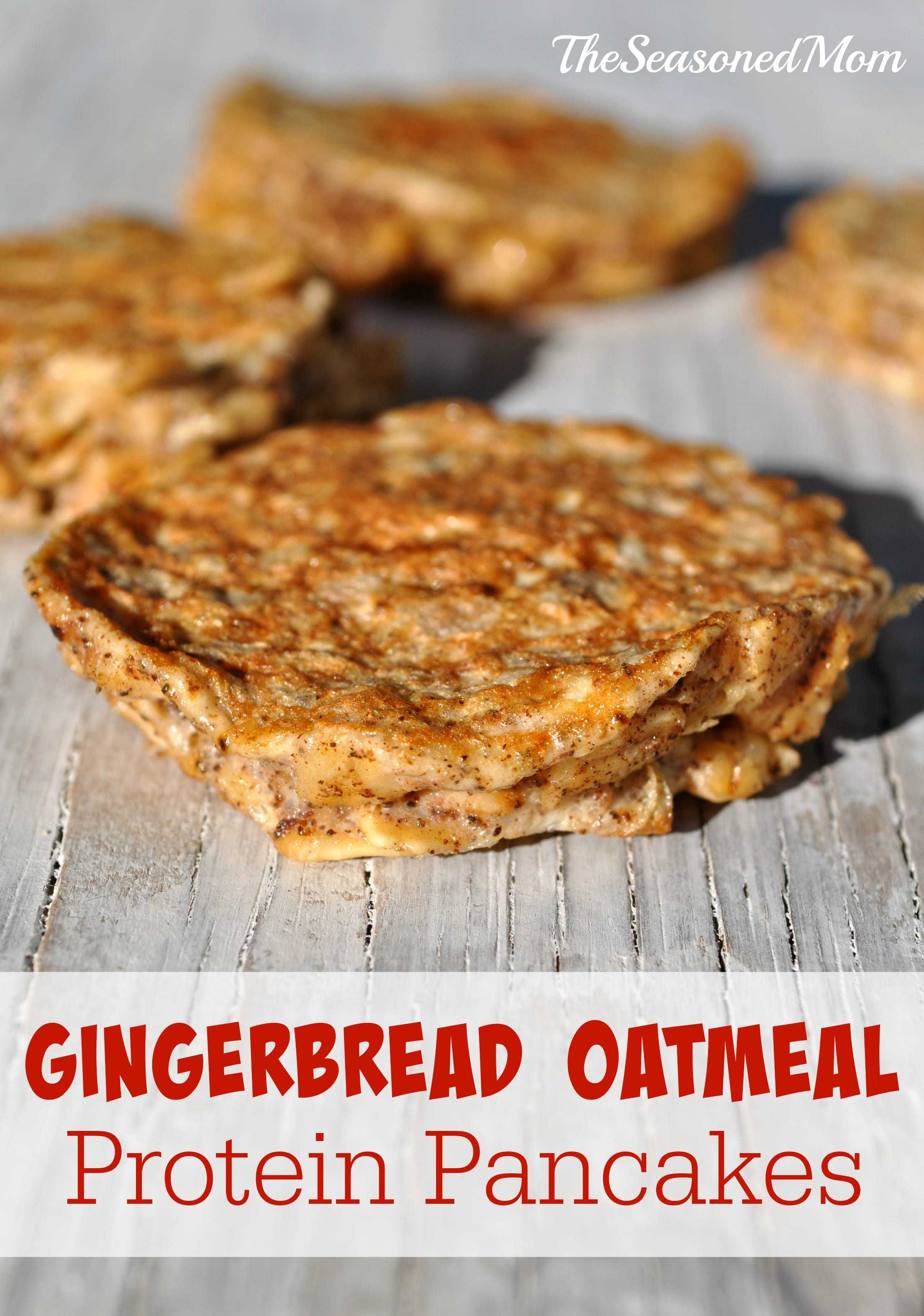 ... with Pure Via: Gingerbread Oatmeal Protein Pancakes - The Seasoned Mom