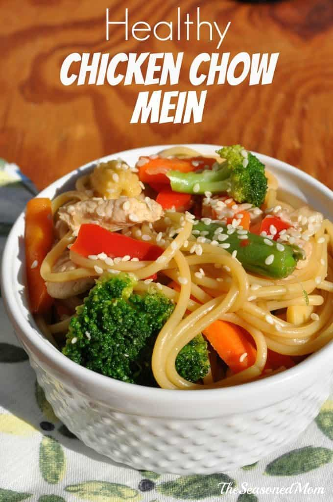 Healthy Chicken Chow Mein - The Seasoned Mom