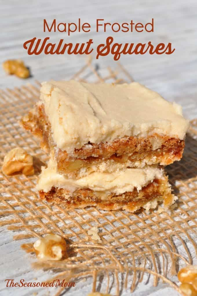 Maple Frosted Walnut Squares