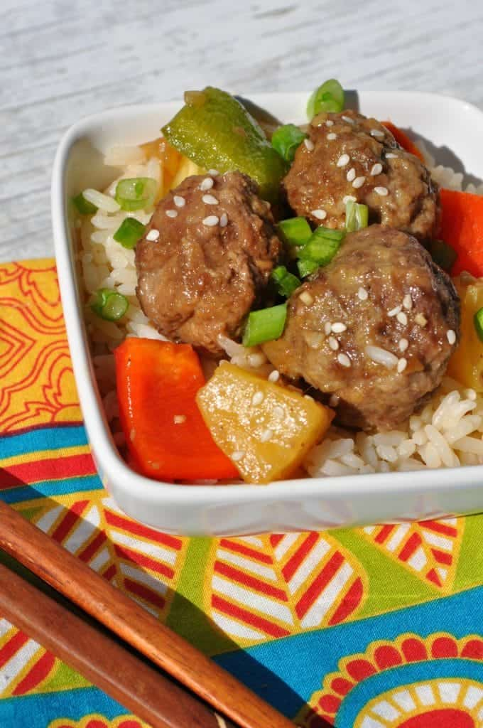 Slow Cooker Sweet and Sour Lamb Meatballs 2