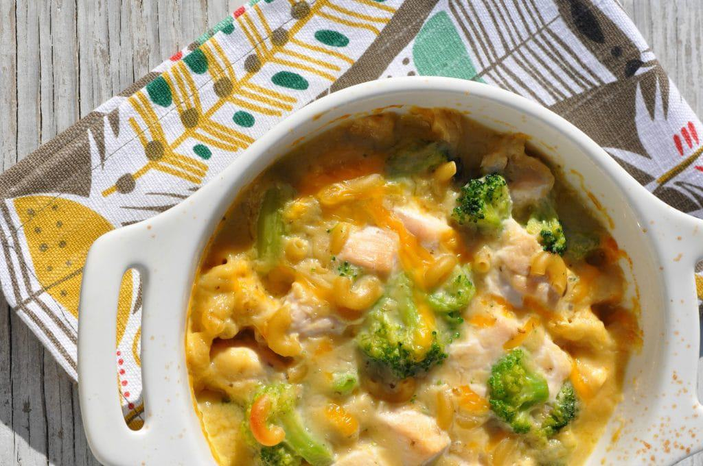 1 Dish Chicken Broccoli and Cheese Pasta 2