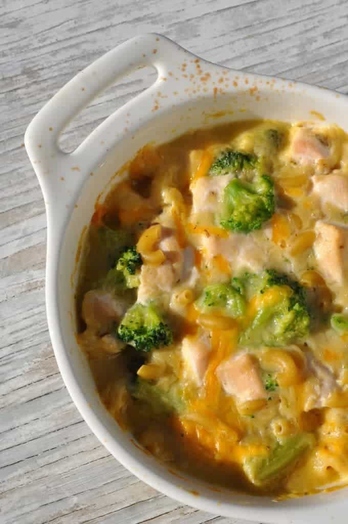 1-Dish Chicken Broccoli and Cheese Pasta