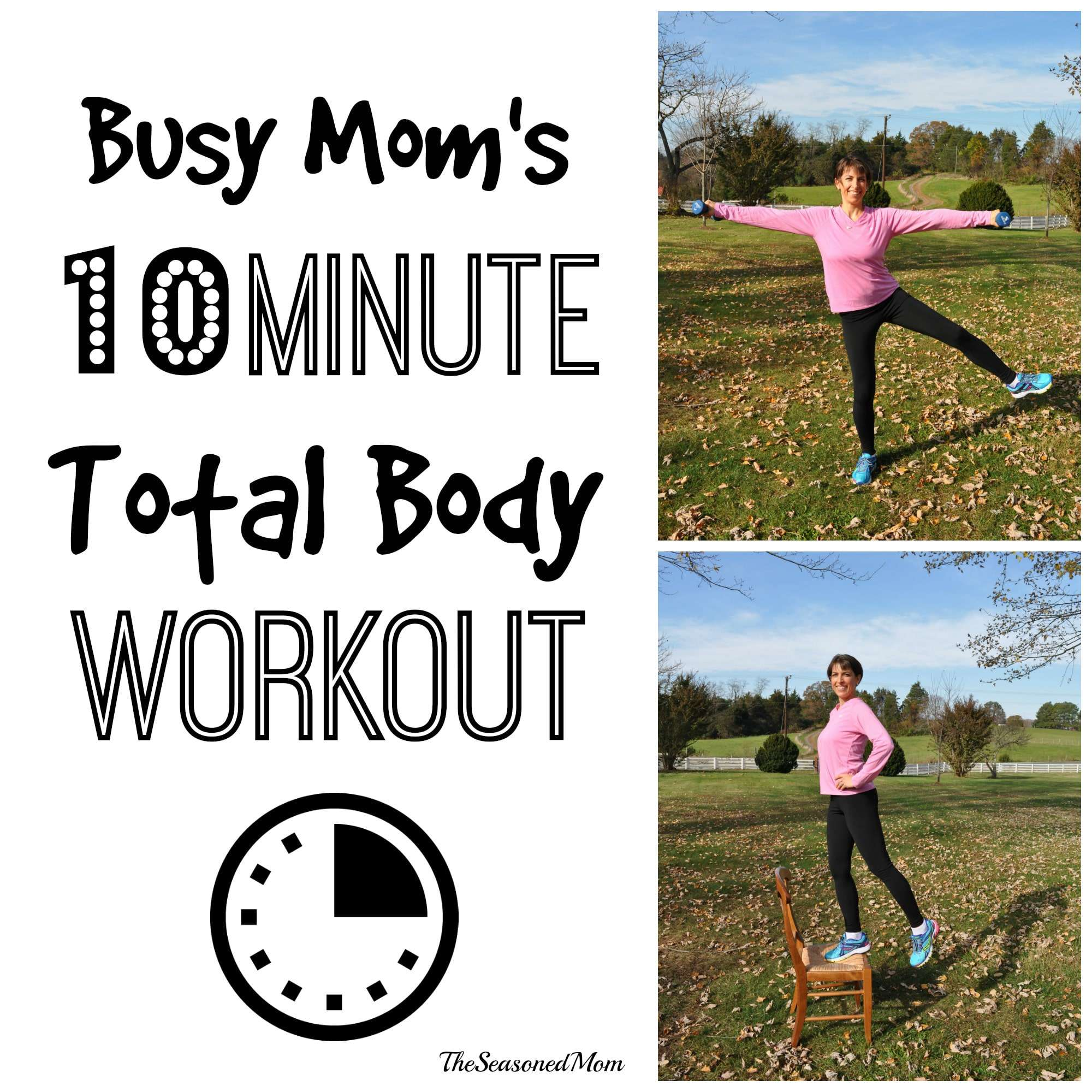 Busy Mom's 10 Minute Total Body Workout