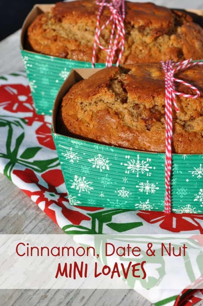 Cinnamon Date and Nut Mini Loaves