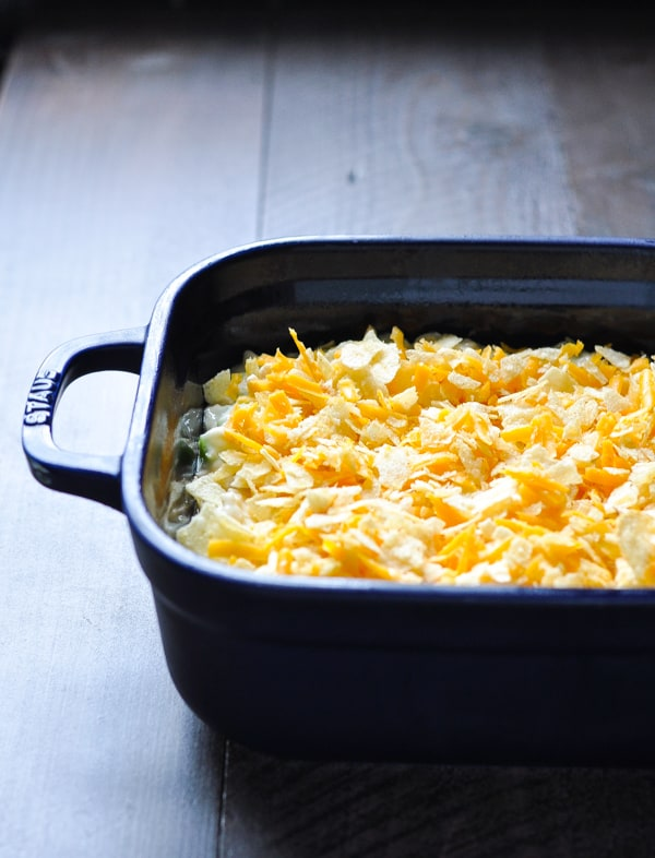 How to bake chicken salad casserole before it goes into the oven