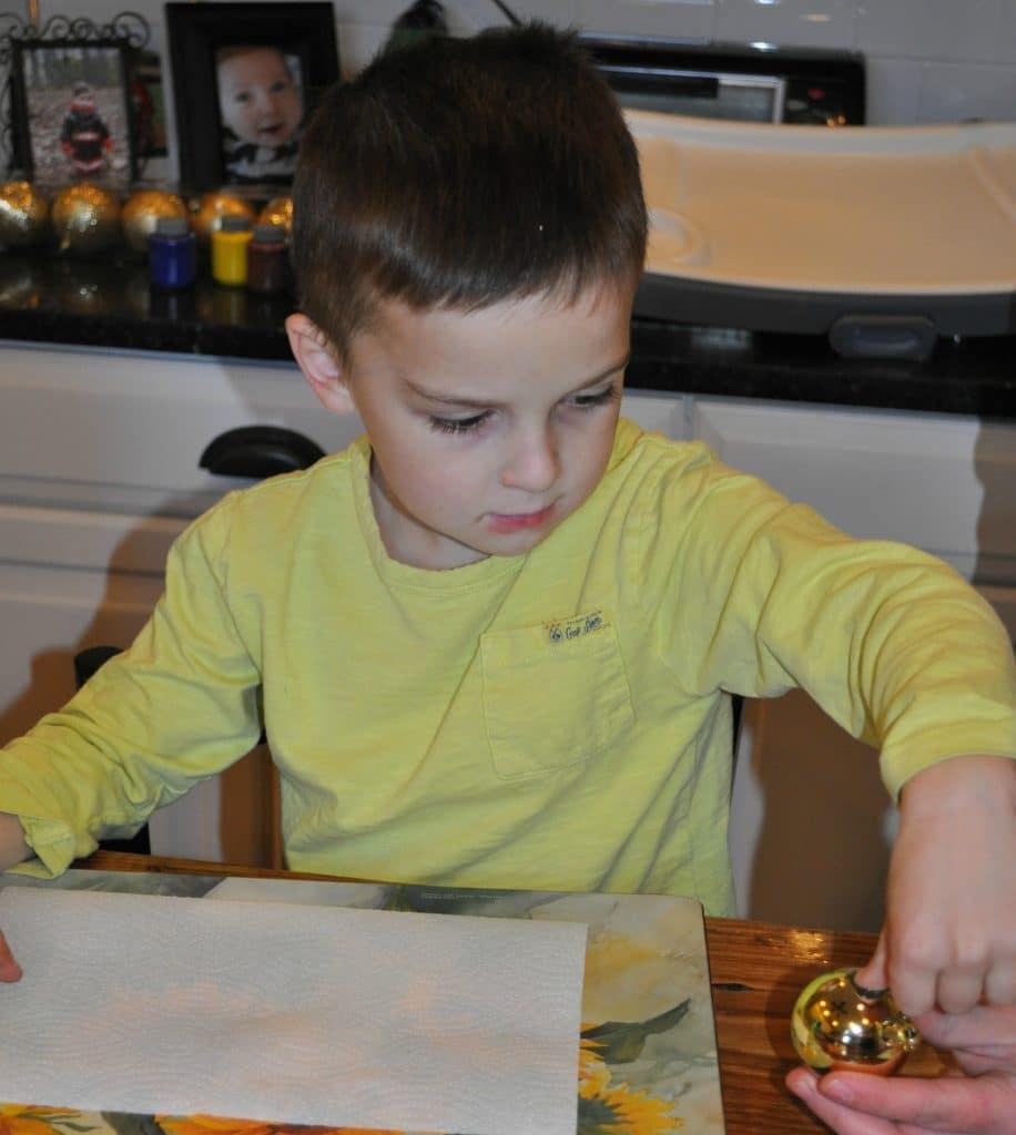 Gibbs Making Ornament