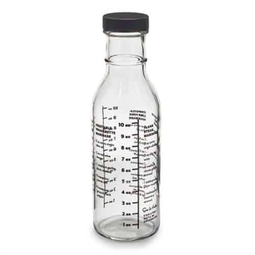 Glass Marinade and Sauce Bottle