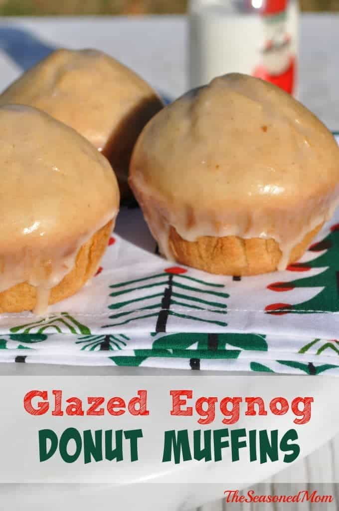 Glazed Eggnog Donut Muffins are an easy make-ahead breakfast or brunch to celebrate the Christmas season. Perfect with coffee!