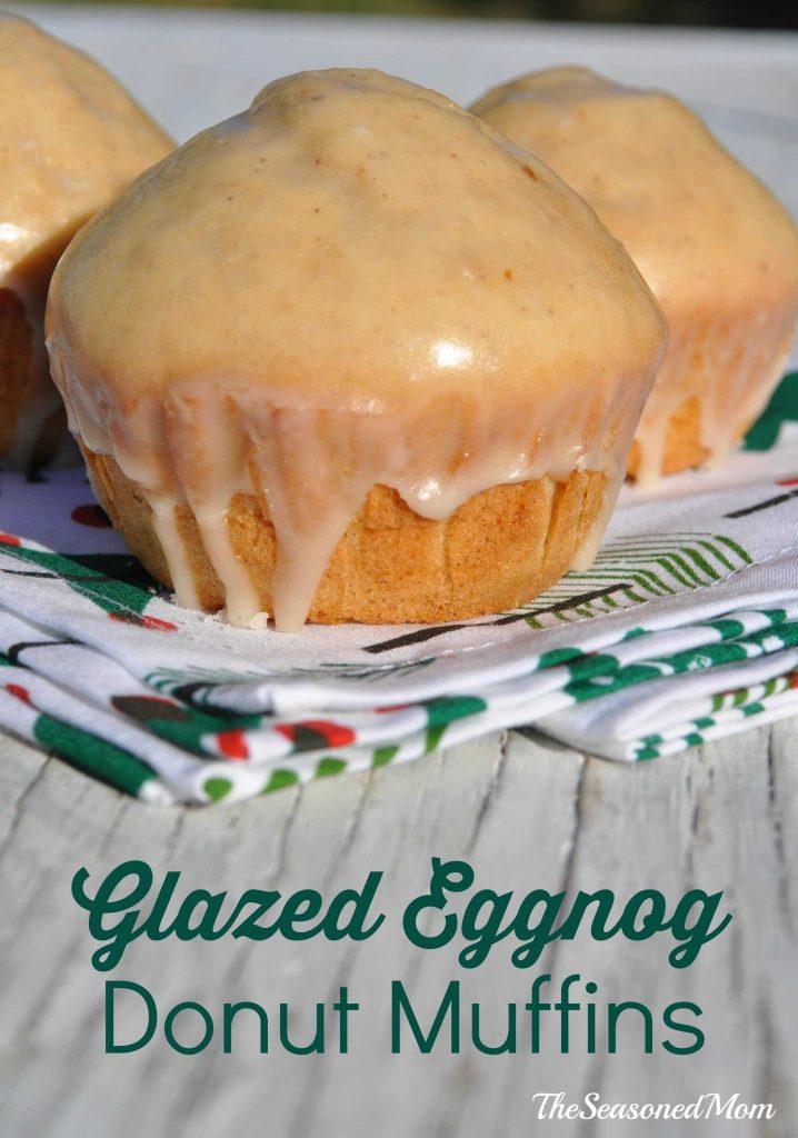 Glazed Eggnog Donut Muffins