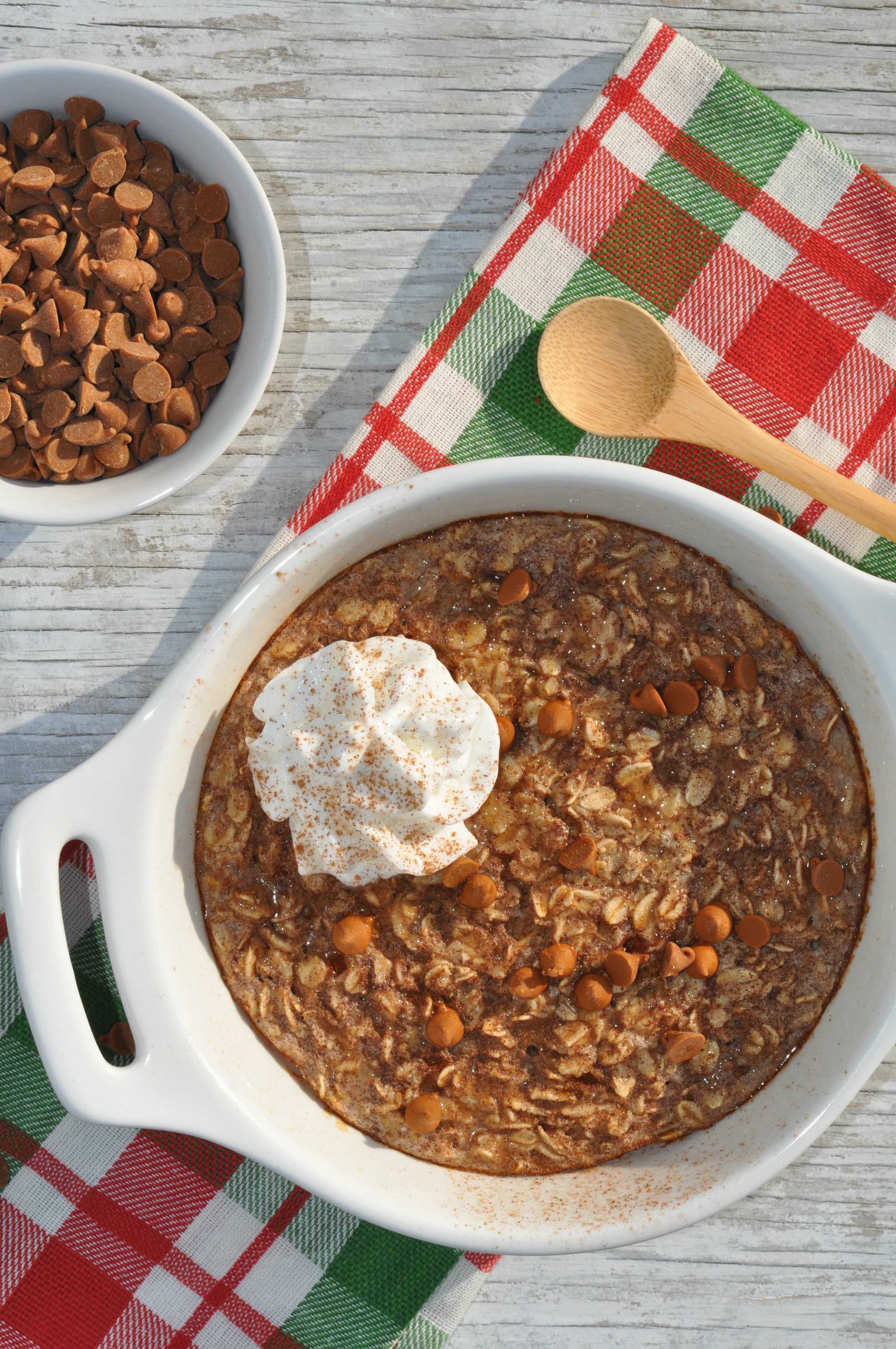 Healthy Snickerdoodle Cookie Baked Oatmeal 2