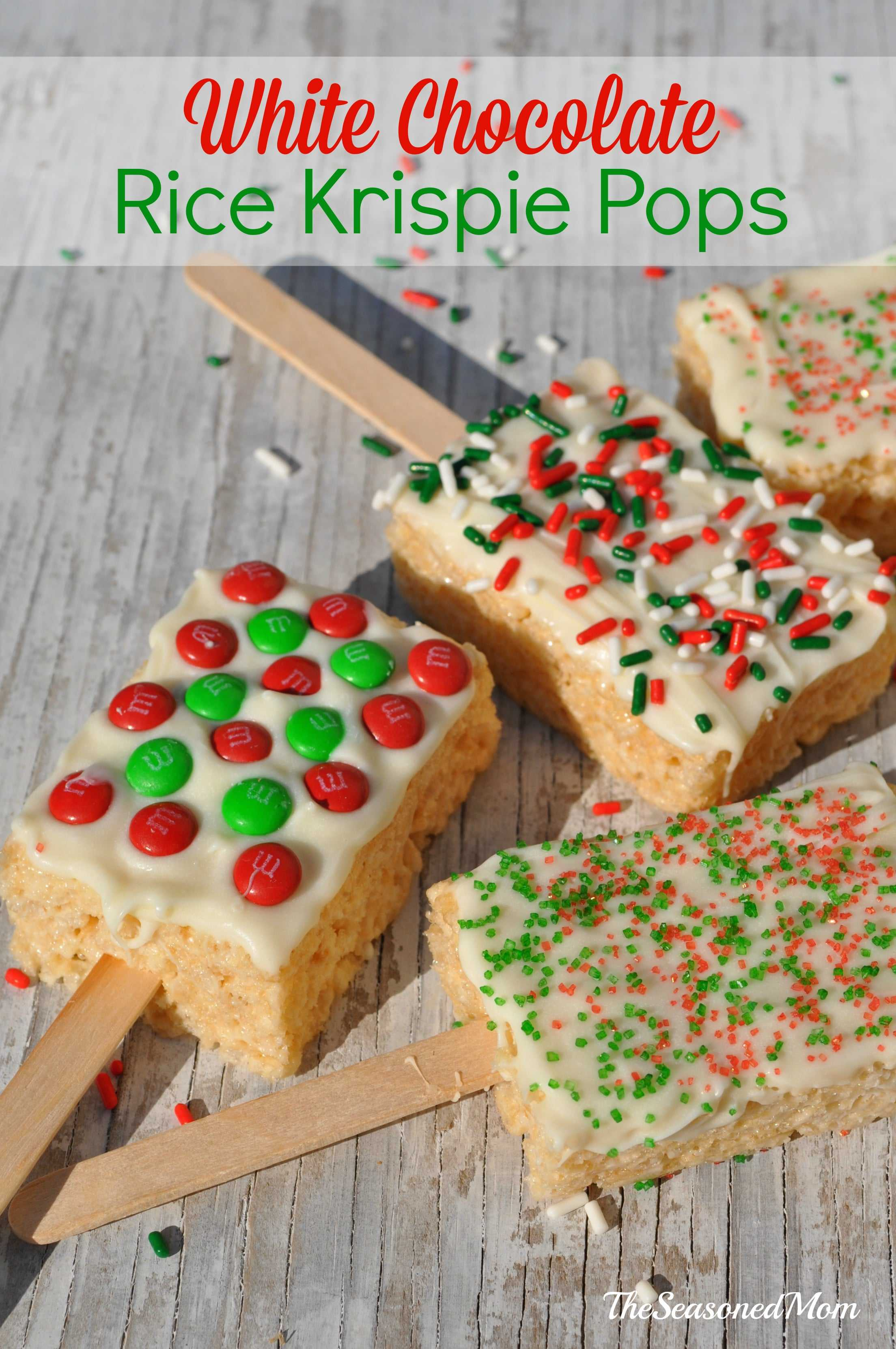 Holiday Treats for the Classroom: White Chocolate Rice Krispie ...