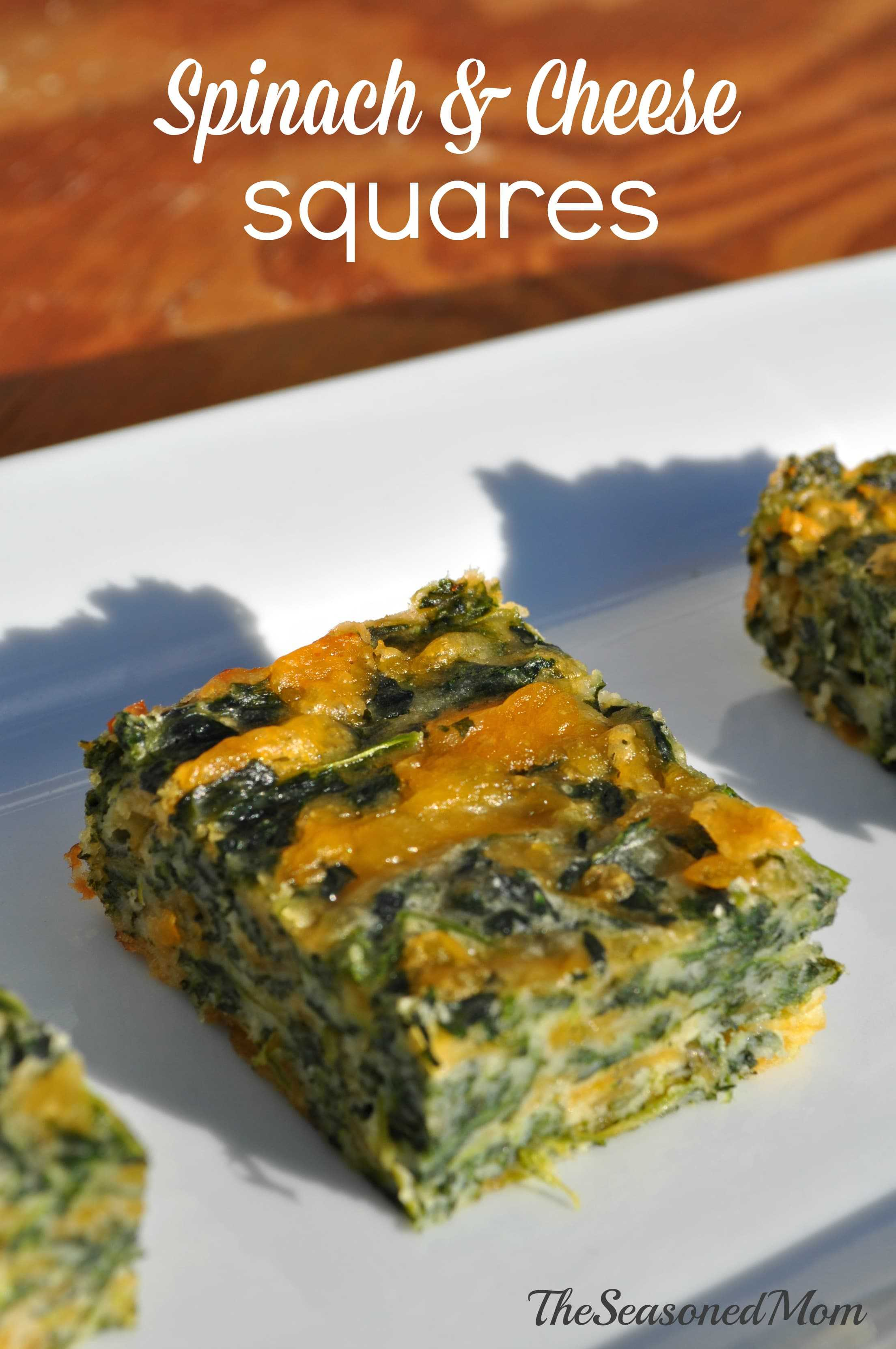Spinach and Cheese Squares 3