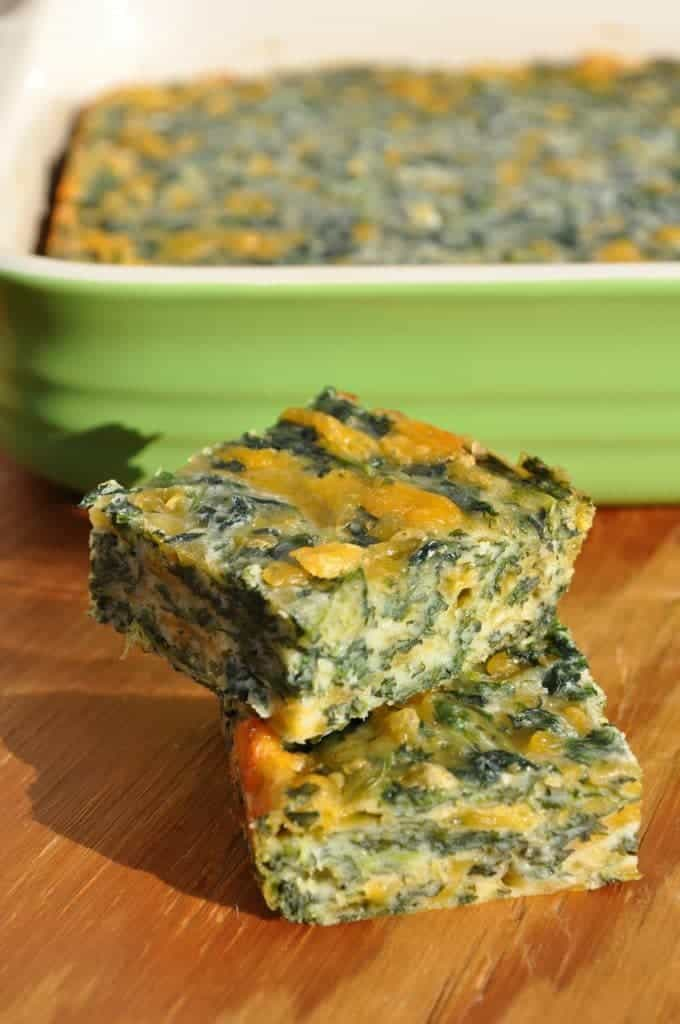 Spinach and Cheese Squares 4