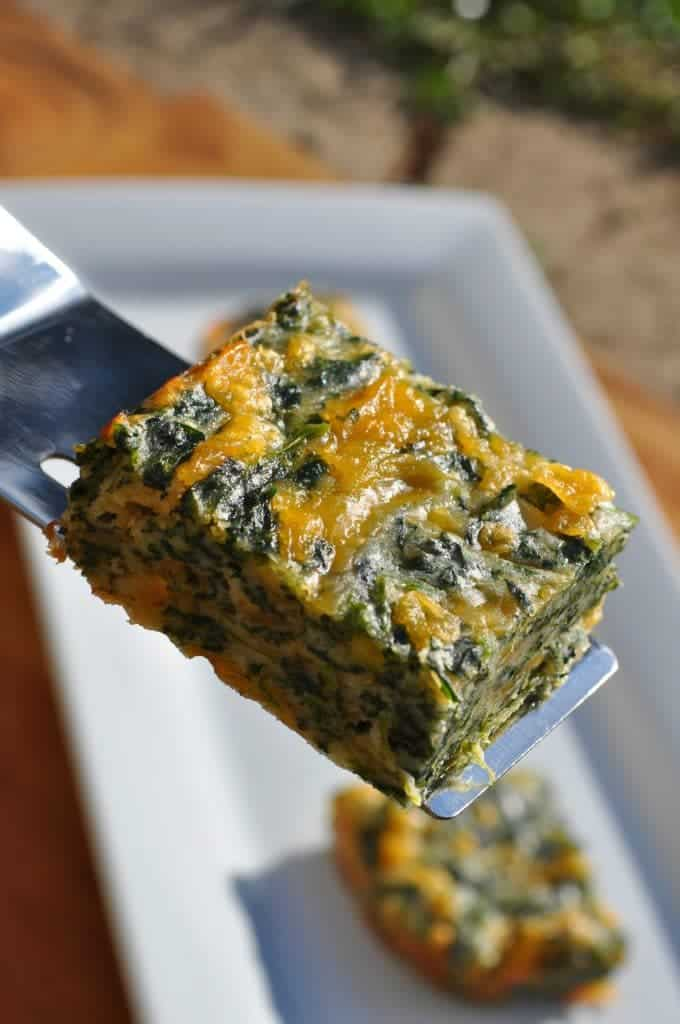 Spinach and Cheese Squares 5